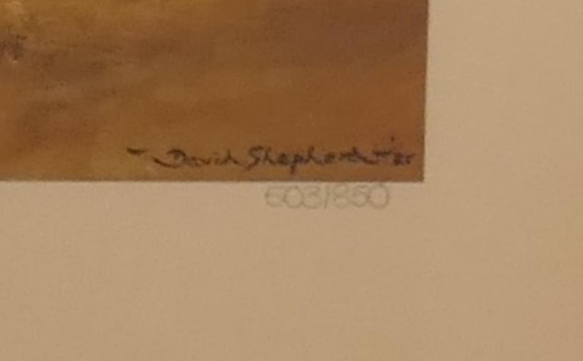 Signed L/E David Shepherd print - The Masai - Image 3 of 4