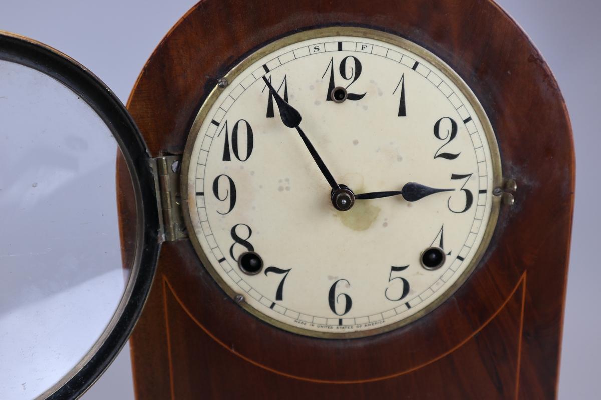 Inlaid mantle clock - Image 2 of 6