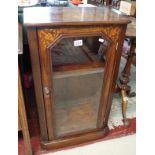 Inlaid walnut glazed cabinet