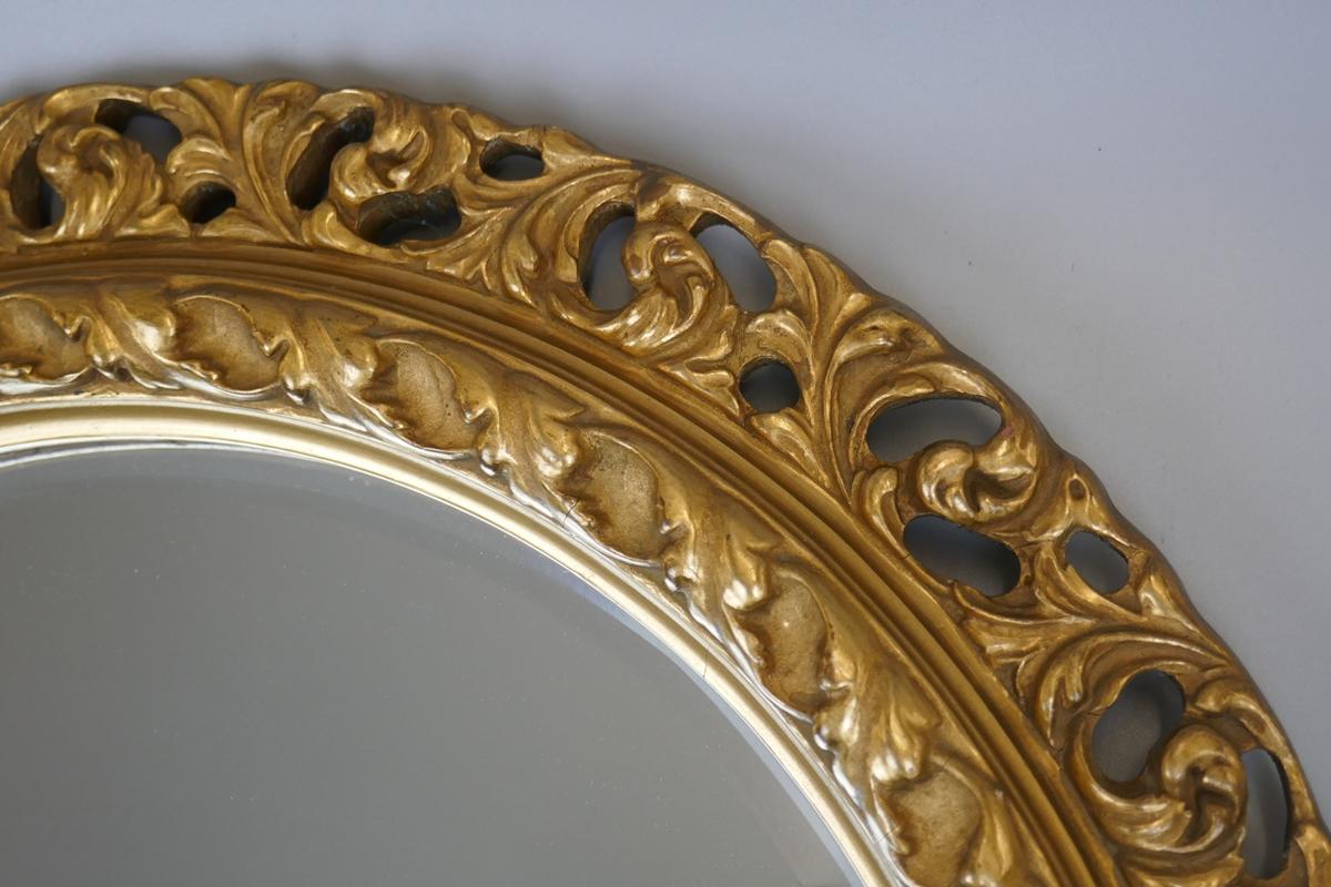 Round gilt framed mirror - Image 3 of 5