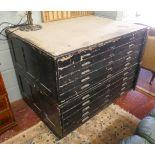 Vintage plan chest by Staverton