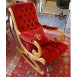 Decorative upholstered rocking chair