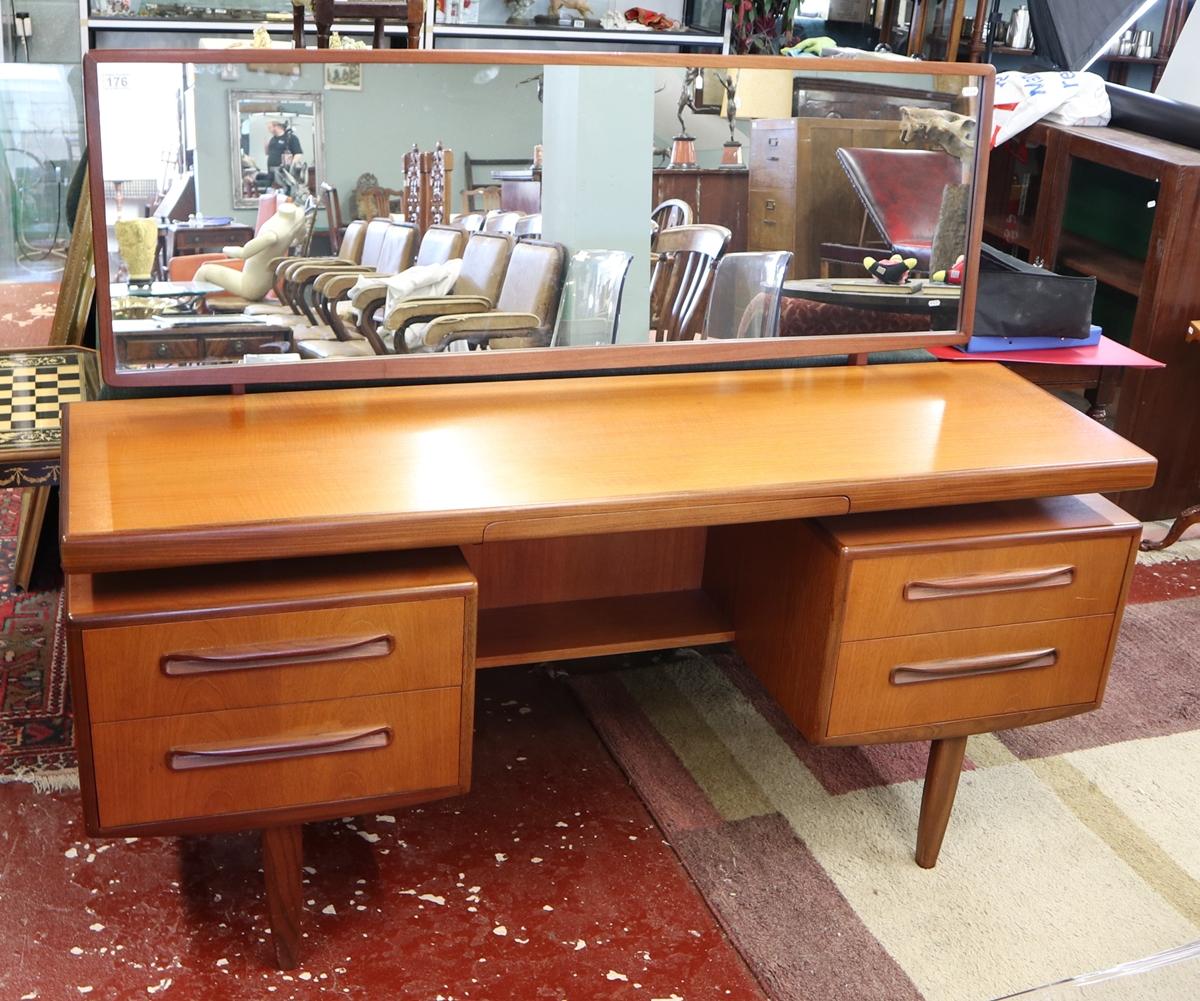 Time warp G-Plan dressing table with original G-Plan label in drawer