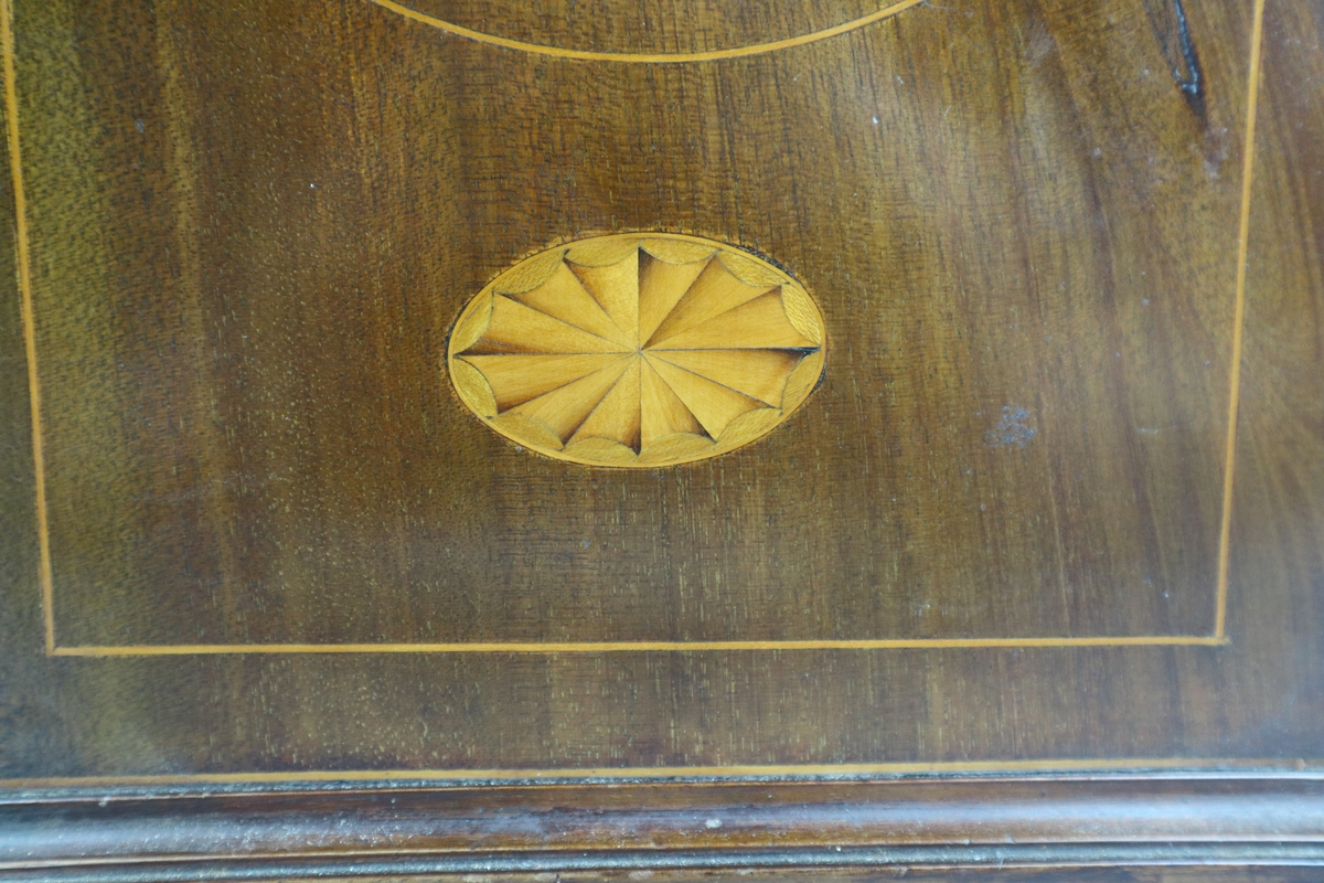Inlaid mantle clock - Image 3 of 6