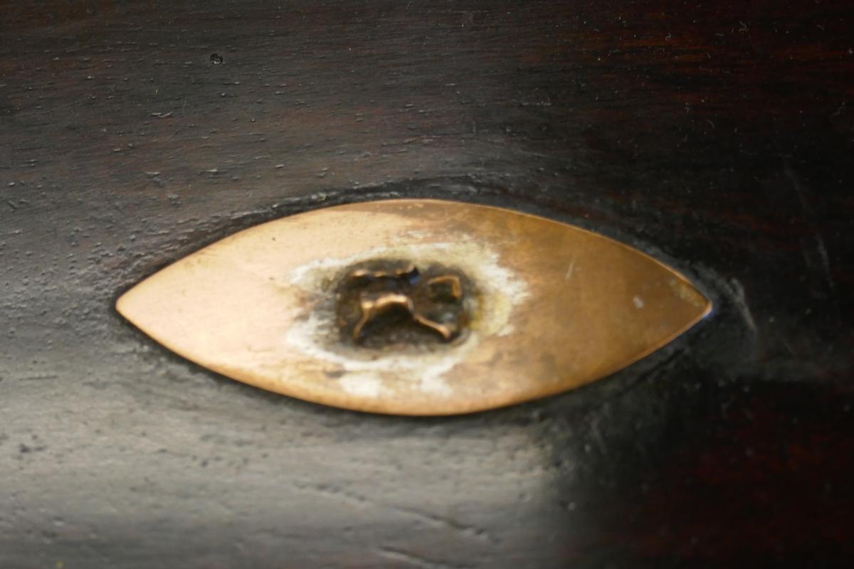 Tea caddy and small mahogany trinket box - Image 2 of 4