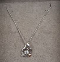 Clogau topaz pendant on chain mounted with Welsh gold in original box