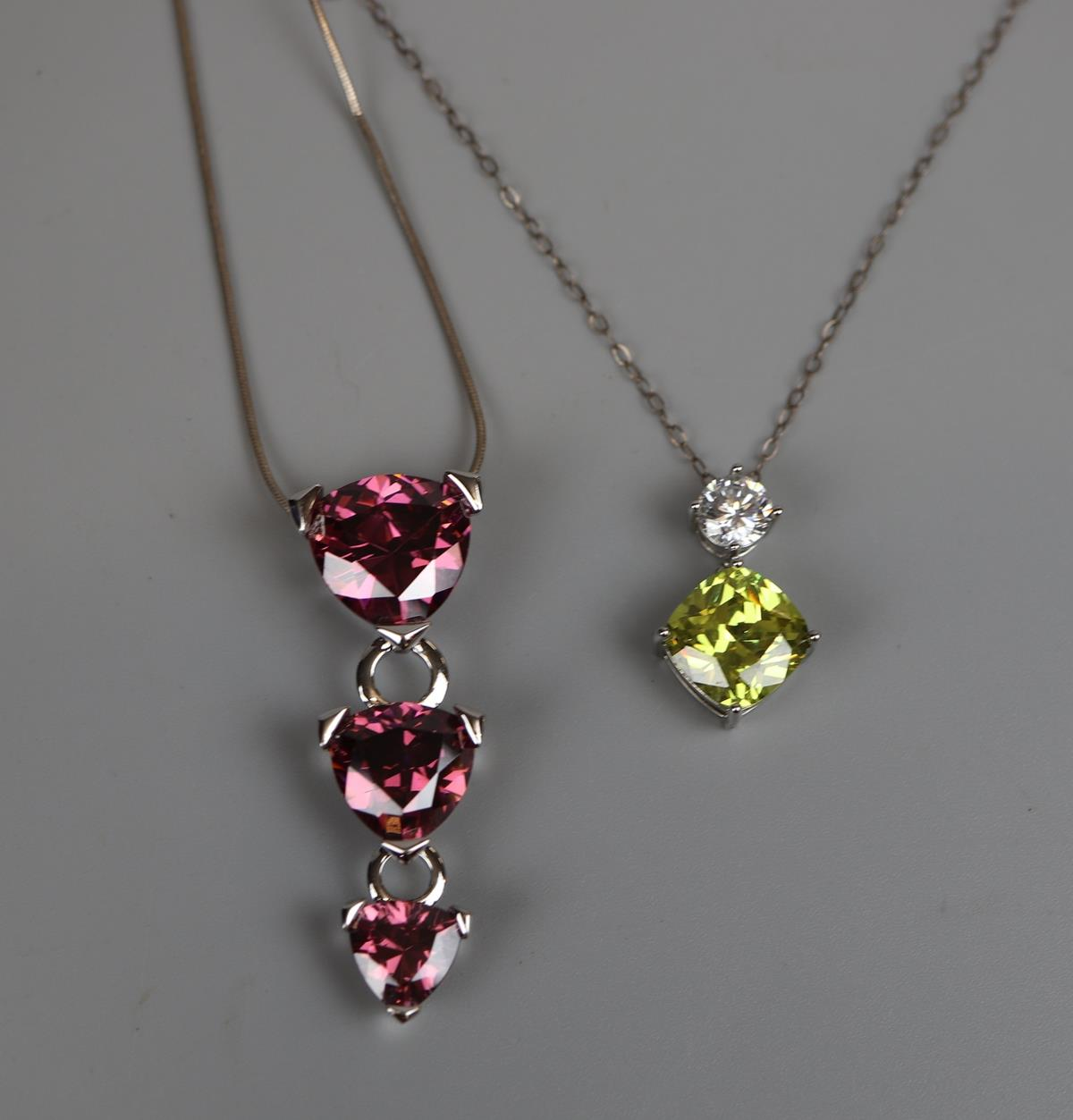 2 pendants on chains