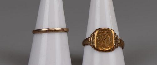 2 gold rings