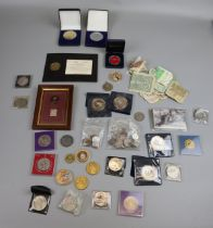 Collection of coins of notes