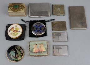 Collection of powder compacts and stamp holders