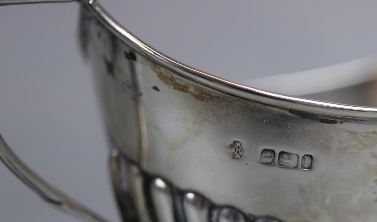 Hallmarked silver boat shaped sugar dish - William Hutton & Sons Ltd - Approx 89g - Image 2 of 2
