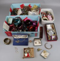 Large collection of costume jewellery etc