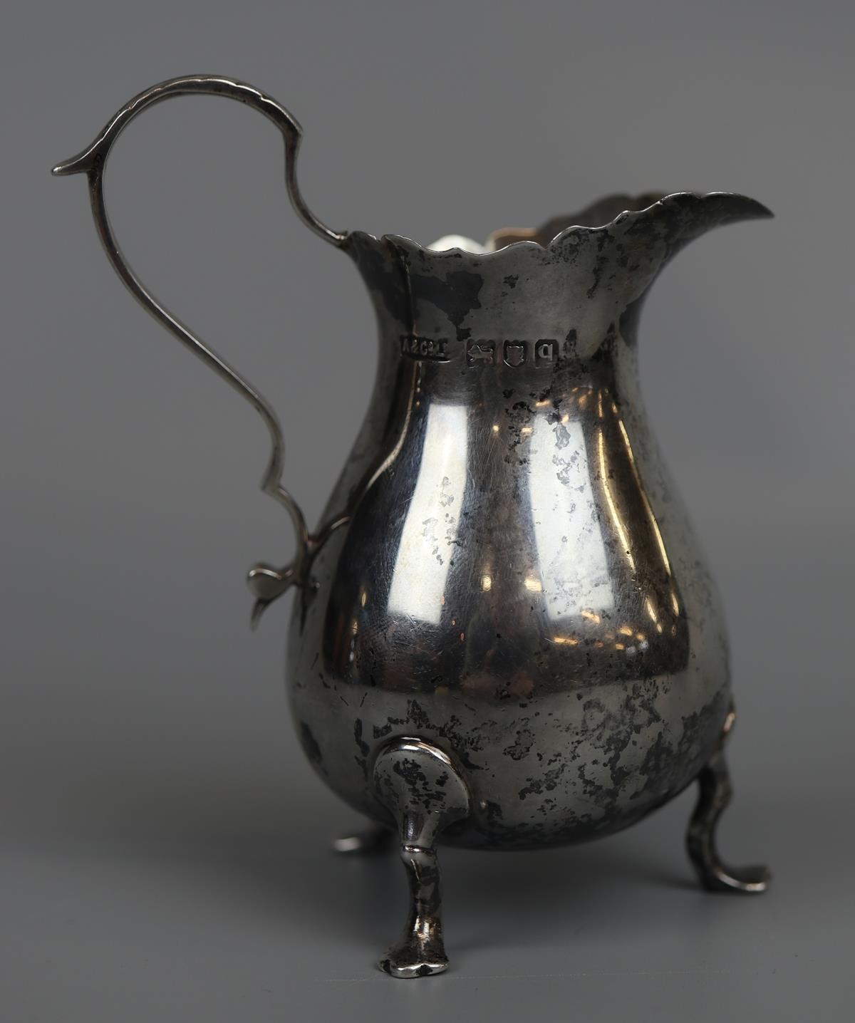 Hallmarked silver cream jug - Asprey & Co LTD - 1911 - Approx 74g