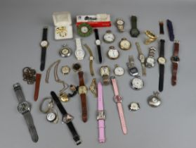 Collection of watches & pocket watches to include hallmarked silver example