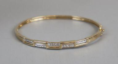Gold diamond set bangle