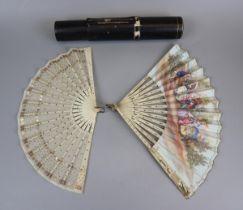 2 antique fans