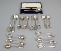 Large collection of hallmarked silver spoons - Approx gross weight: 458g