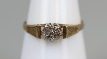 Gold diamond ring (size K)