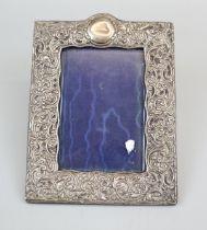Hallmarked silver photo frame - Approx size: 21.5cm x 16cm