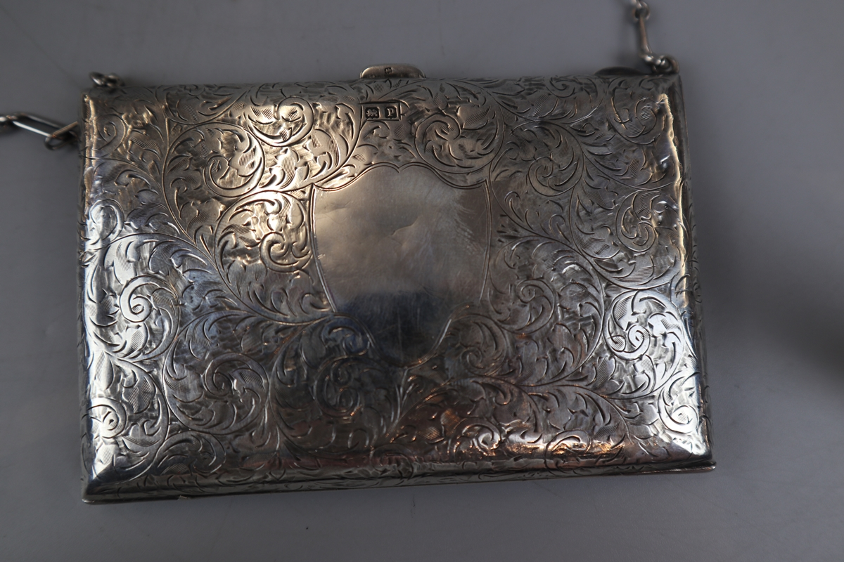 Unusual hallmarked silver note case/purse - W H Hassler circa 1914 - Image 3 of 5