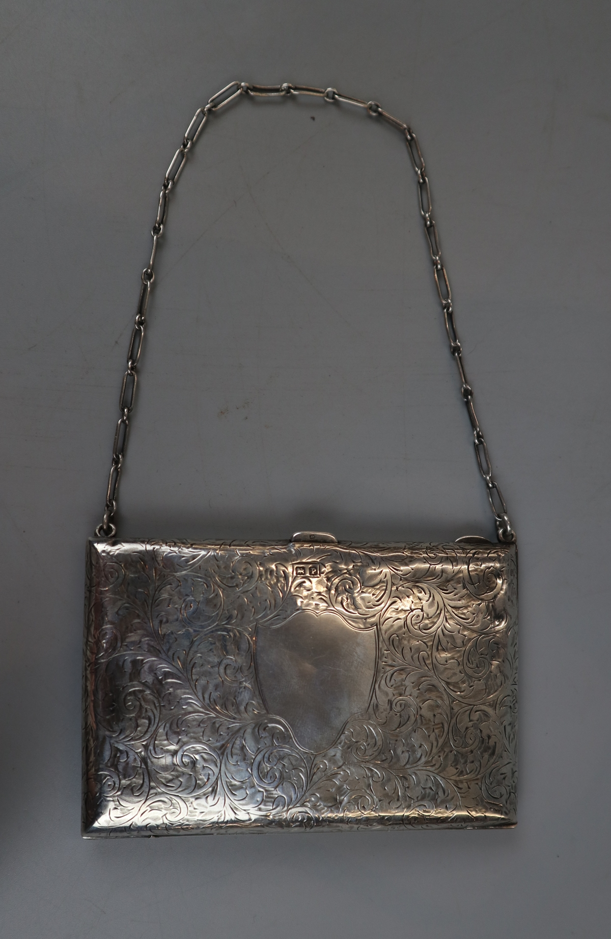 Unusual hallmarked silver note case/purse - W H Hassler circa 1914