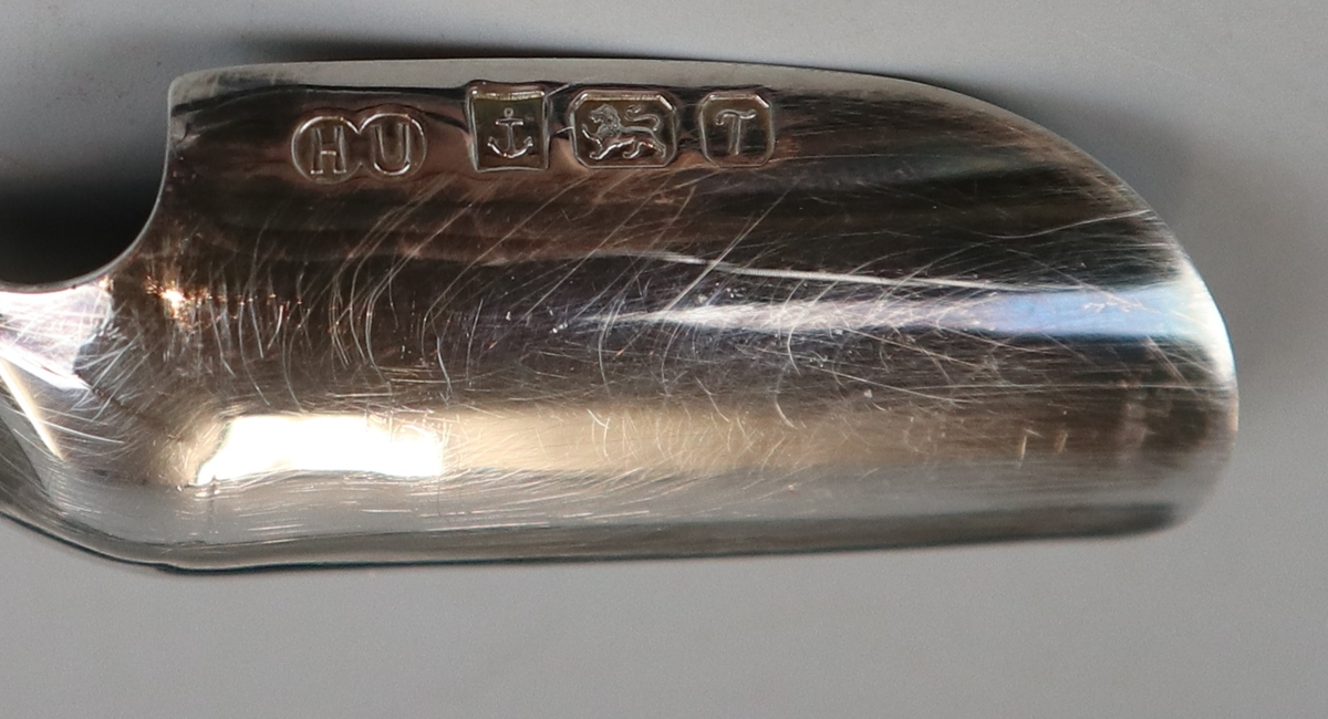 Hallmarked silver stilton scoop - Image 2 of 2