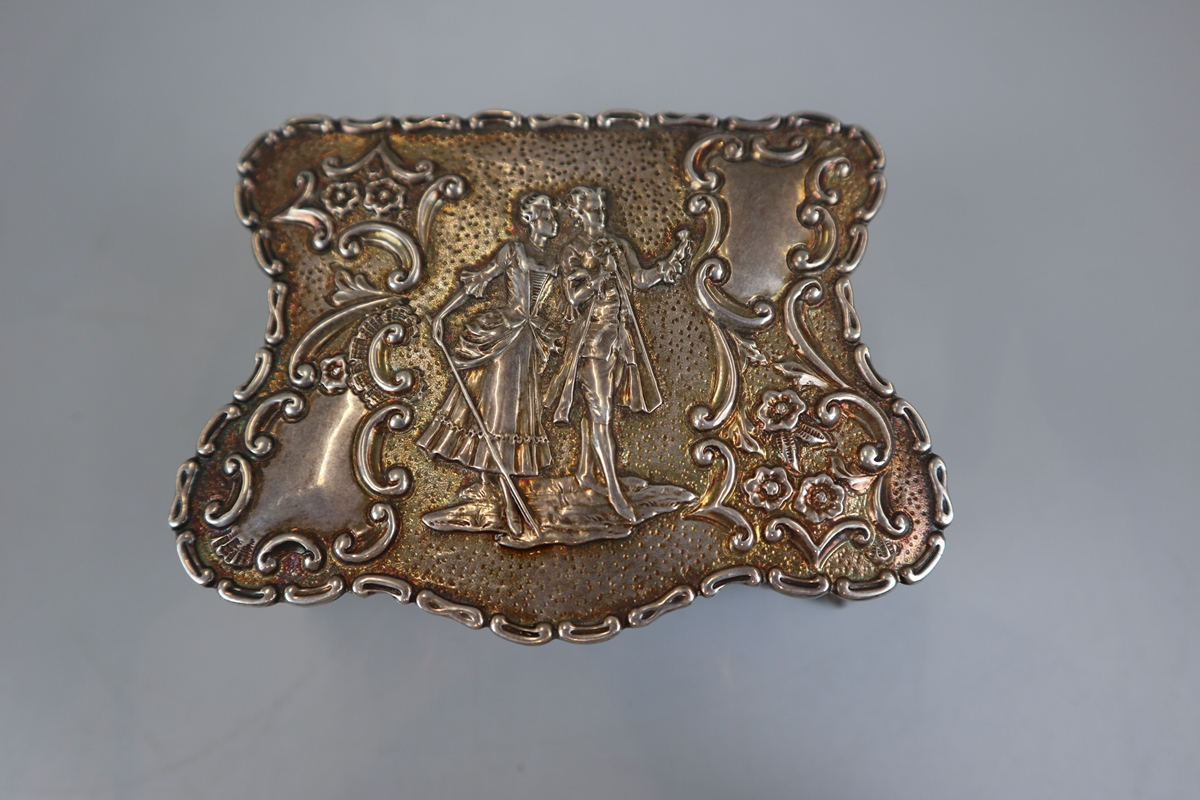 Small hallmarked chased silver trinket box (missing base) - Image 2 of 5