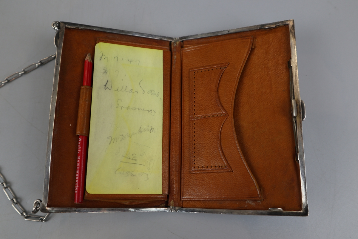 Unusual hallmarked silver note case/purse - W H Hassler circa 1914 - Image 4 of 5