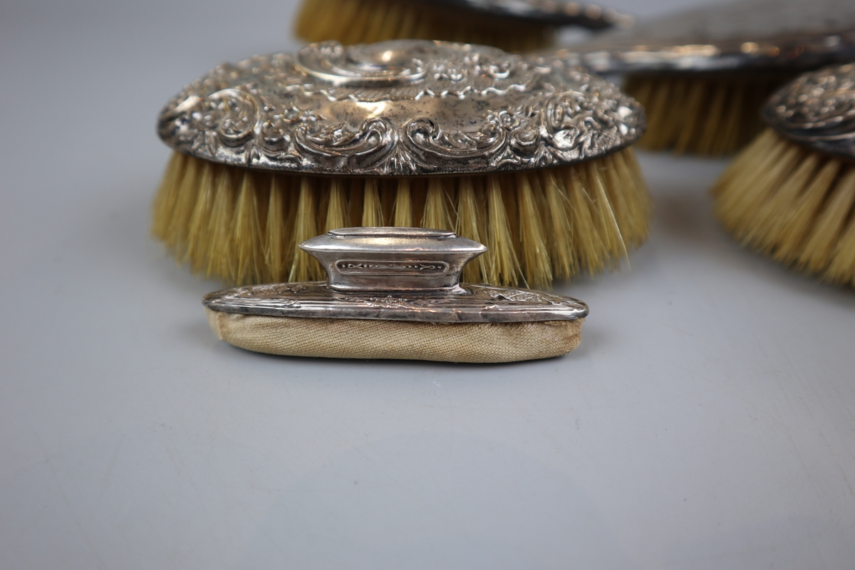 Collection of hallmarked silver brushes etc - Image 2 of 5