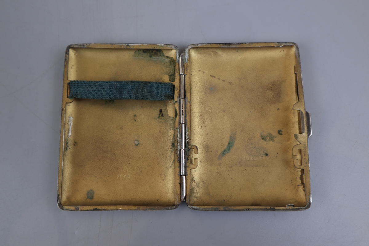 2 hallmarked silver cigarette cases - William Neal & Sons Ltd circa 1918 & G&C Ltd - Image 7 of 7