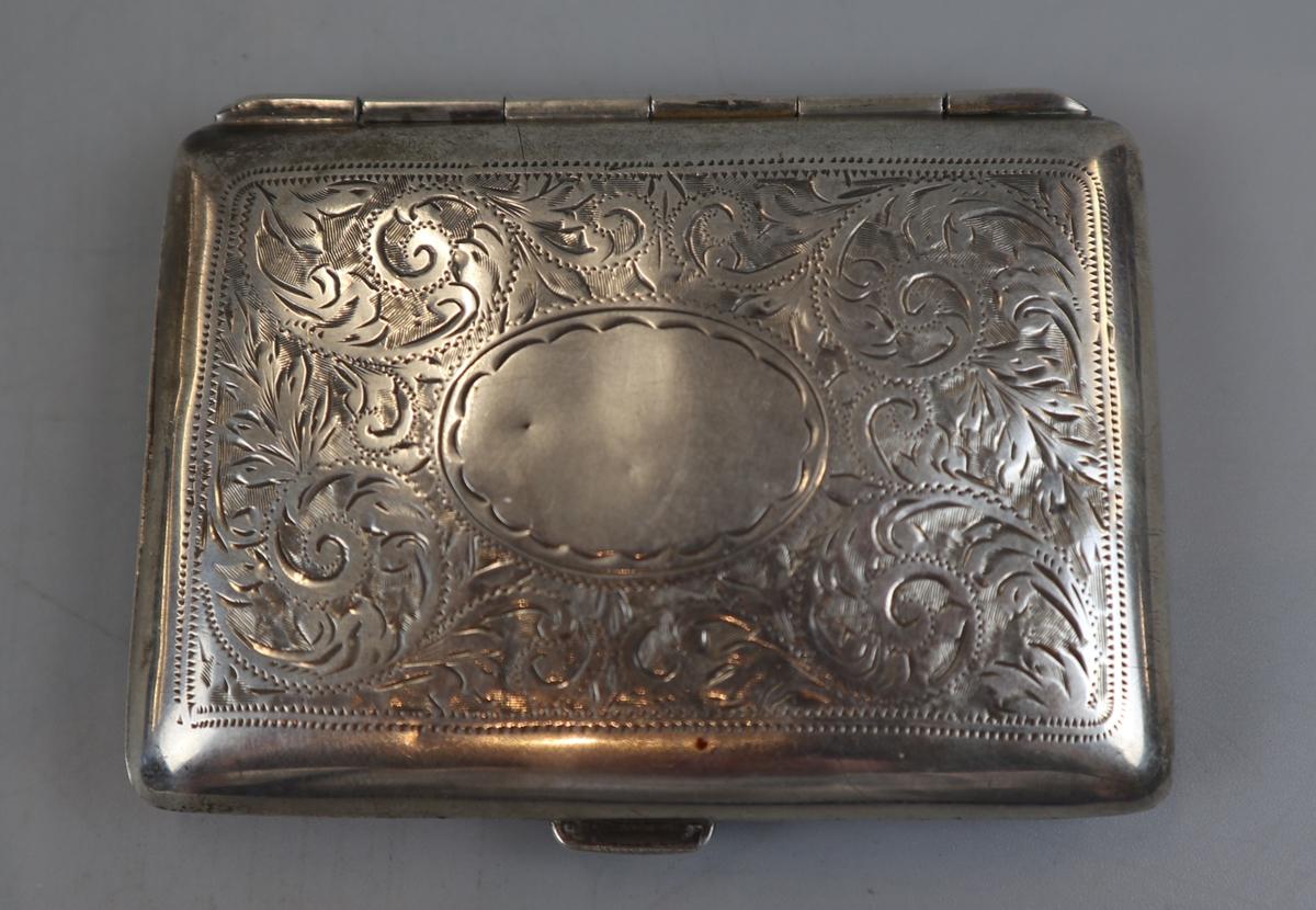 2 hallmarked silver cigarette cases - William Neal & Sons Ltd circa 1918 & G&C Ltd - Image 6 of 7