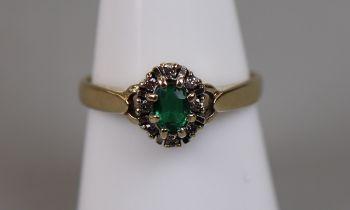 Gold stone set ring (size Q)