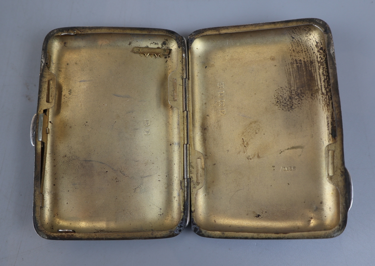 2 hallmarked silver cigarette cases - William Neal & Sons Ltd circa 1918 & G&C Ltd - Image 5 of 7