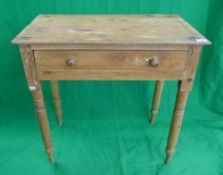 Small antique pine side table - Approx. W: 75cm D: 45cm H:73cm