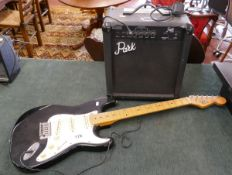 Electric Falcon guitar by Tanglewood & Park amp