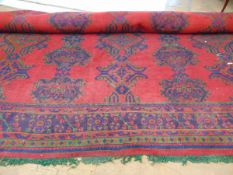A large handwoven Turkish rug,