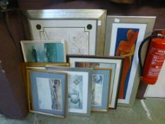A selection of framed and glazed prints on various subjects