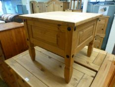 A pine low level table