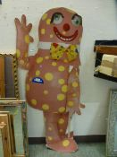 A cardboard cut-out of Mr Blobby
