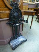 A Victorian style umbrella stand