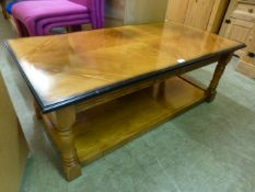 A modern beech coffee table,