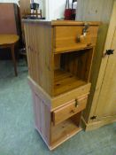 Two modern bedside cabinets