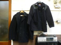 Two navy blue donkey jackets