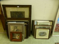 A large selection of framed and unframed photographs, prints etc.