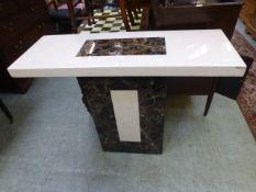 A modern Italian style marble consul table