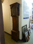 A 19th century oak long case clock case (no movement)