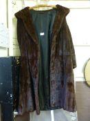 A brown fur coat