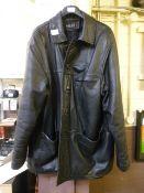 A Milan black leather jacket