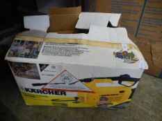 A boxed Karcher pressure washer