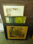 Four prints on various subjects
